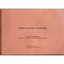 Carnet de papier à musique adapté